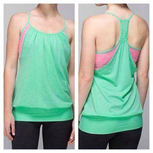 Lululemon Opal Neon Pink No Limits Tank Top Size 6